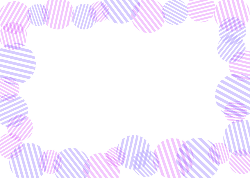 可愛いイラスト無料|背景 円ボーダー 枠 紫色