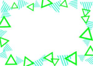 可愛いイラスト無料|背景 三角ボーダー 枠 緑色と黄緑色