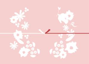 可愛いイラスト無料|のし紙 鳥 花 カジュアル 結びきり