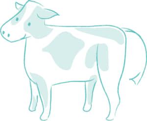 年賀状2021デザイン無料|かわいい牛のイラスト