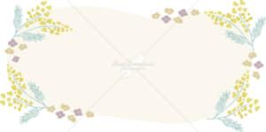 イラストデータ販売|花 春 黄色 フレーム イラスト イラストデータ