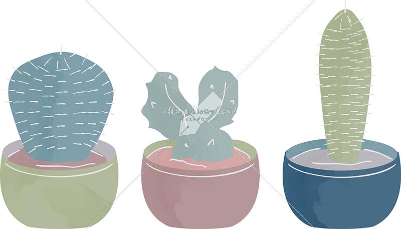 イラストデータ販売|多肉植物 ガーデニング 色付き イラストデータ
