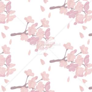 イラストデータ販売|桜 パターン 手描き イラスト イラストデータ