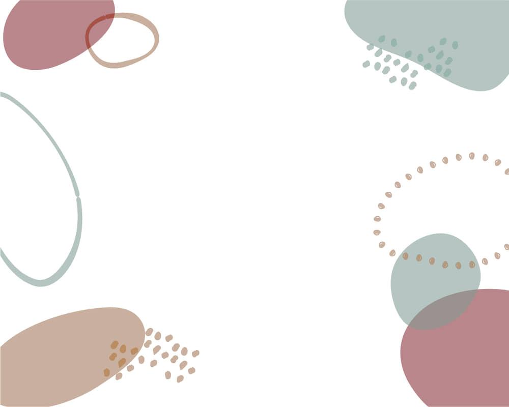 可愛いイラスト無料|背景 シンプル かわいい 円あしらい 茶色とくすんだブルー