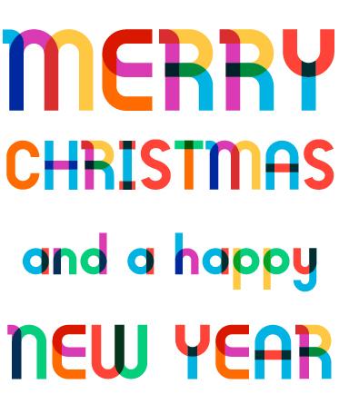 可愛いイラスト無料|クリスマス タイトル装飾3 あしらい 「Merry Christmas and a happy New Year」