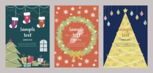 イラストデータ販売|クリスマスカード 手描き かわいい イラスト4 イラストデータ