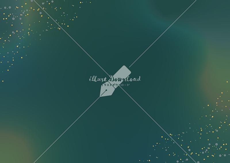 イラストデータ販売|星屑とにじみの背景 緑色 イラストデータ