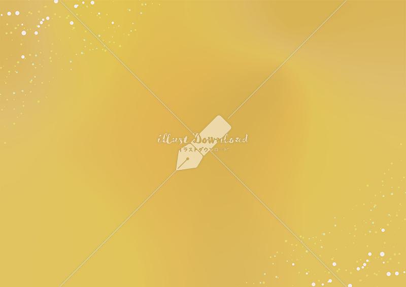 イラストデータ販売|星屑とにじみの背景 金色 イラストデータ