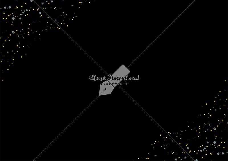 イラストデータ販売|星屑とにじみの背景 黒色 イラストデータ
