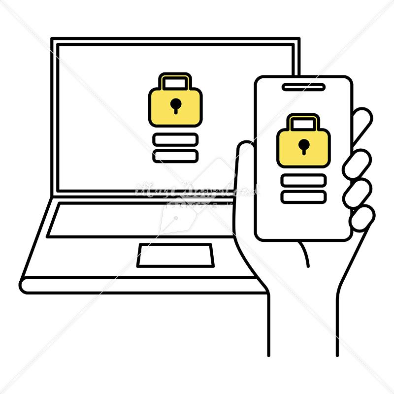 イラストデータ販売|スマートフォンとパソコンのロック解除 イラストデータ