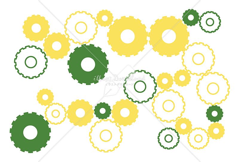 イラストデータ販売|シンプルな歯車の背景 イラストデータ