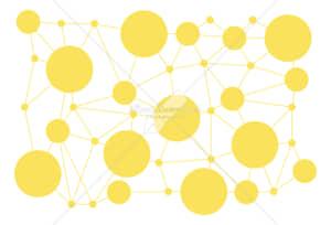 イラストデータ販売|情報テクノロジー 繋がりを表した背景 イラストデータ