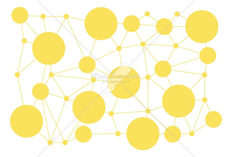 イラストデータ販売 情報テクノロジー 繋がりを表した背景 イラストデータ