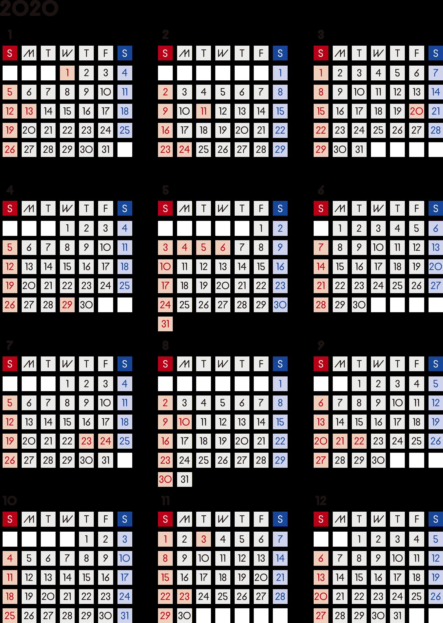 家族 カレンダー 2020 無料