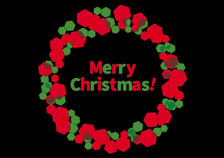 可愛いイラスト無料クリスマスリース 赤 Free Illustration
