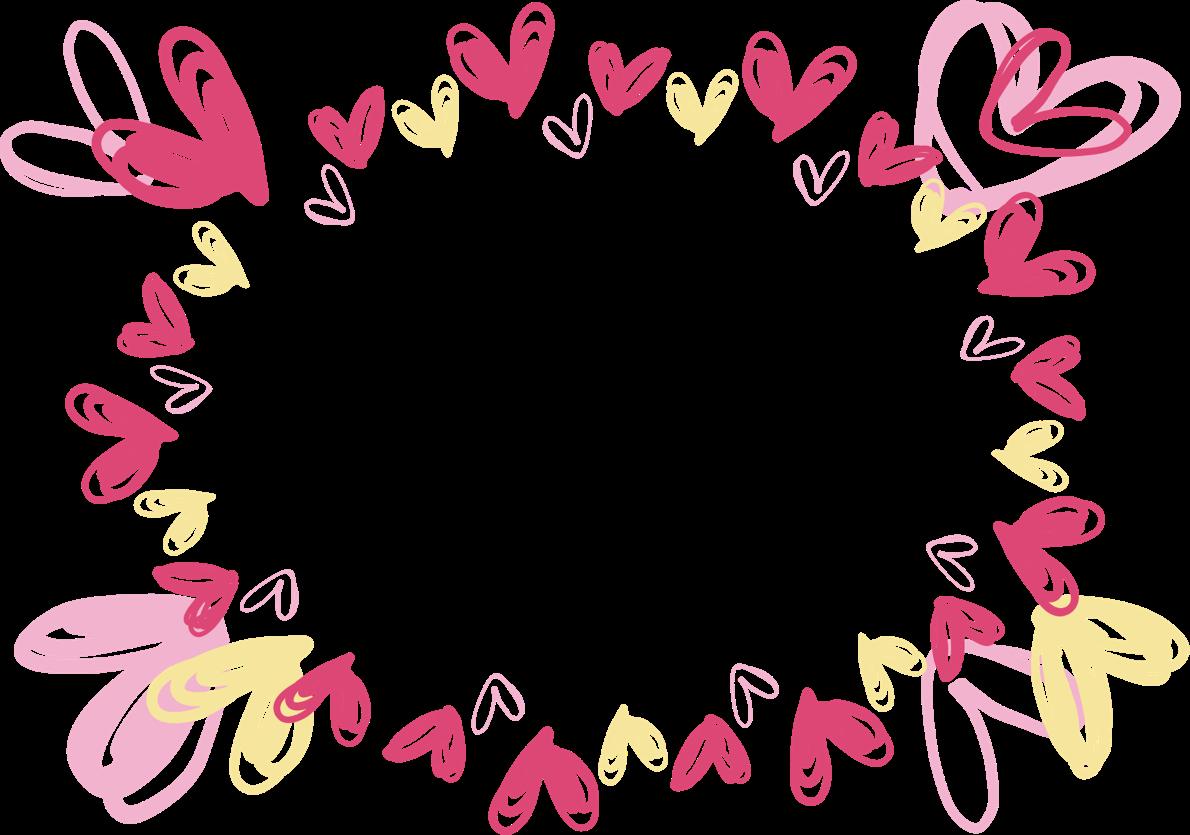 可愛いイラスト無料 ハート ピンク 手書きフレーム 公式 イラスト素材サイト イラストダウンロード