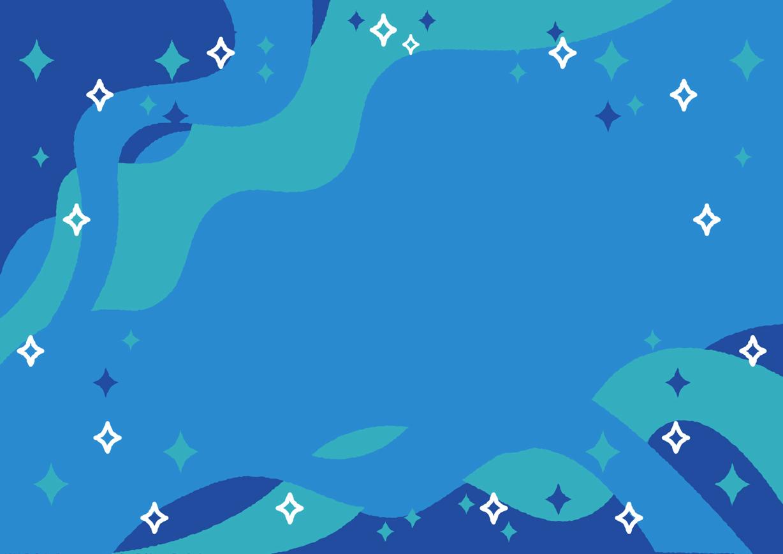 可愛いイラスト無料 七夕 天の川 青色 背景 公式 イラストダウンロード