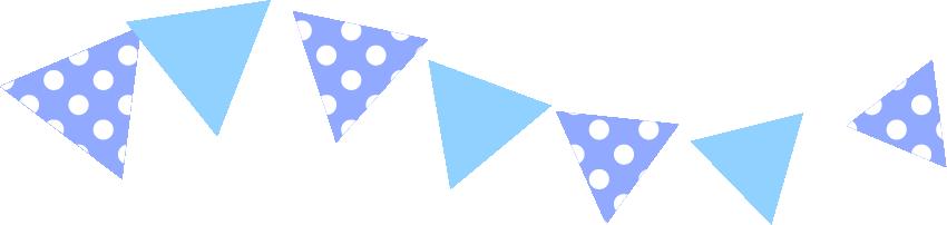 可愛いイラスト無料 罫線 ライン フラッグ 青色 公式 イラスト素材サイト イラストダウンロード