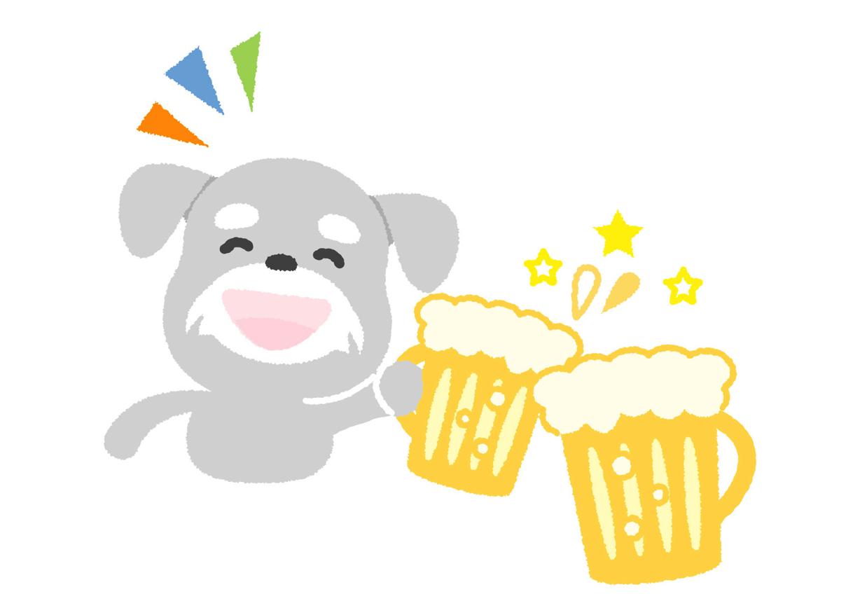 可愛いイラスト無料 犬 ビール Free Illustration Dog Beer 公式 イラスト素材サイト イラストダウンロード