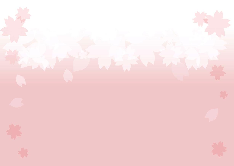 可愛いイラスト無料 桜 背景 Free Illustration Cherry Blossom