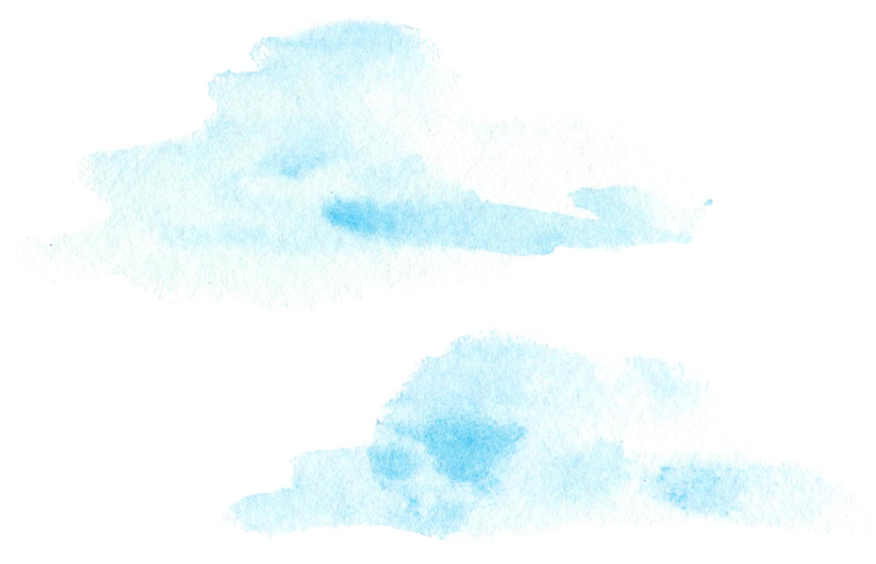 水彩 雲 イラスト 無料 | イラストダウンロード