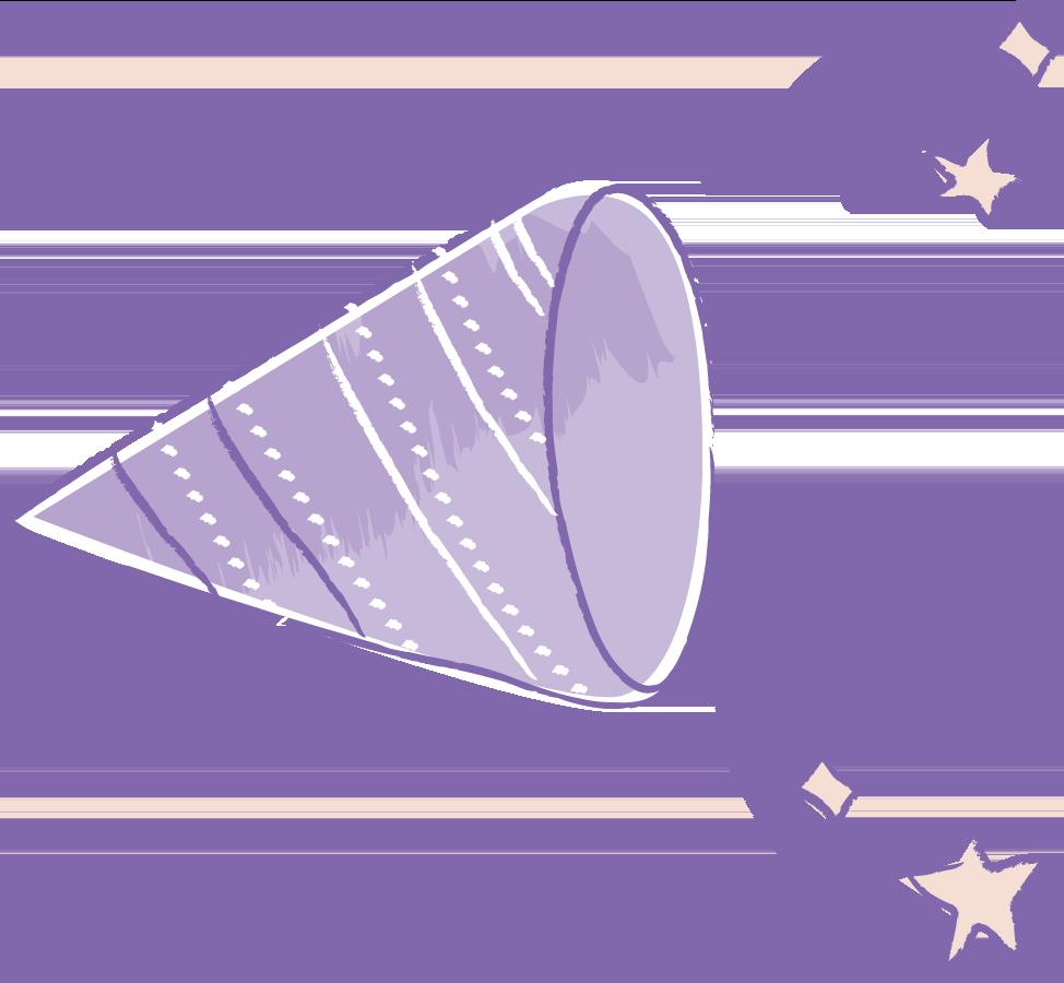 可愛いイラスト無料 手書き クラッカー 紫色 公式 イラストダウンロード