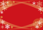 クリスマス 赤 雪の結晶 背景 イラスト 無料