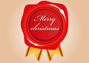 クリスマス シーリングワックス リボン 背景 イラスト 無料