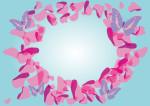 背景 花びら 蝶 ピンク イラスト 無料
