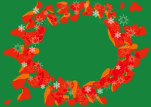 クリスマス 花びら 雪の結晶 背景 イラスト 無料