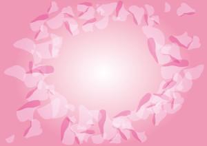 花 フレーム 吹雪 ピンク イラスト 無料
