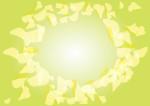 花 フレーム 吹雪 緑 イラスト 無料