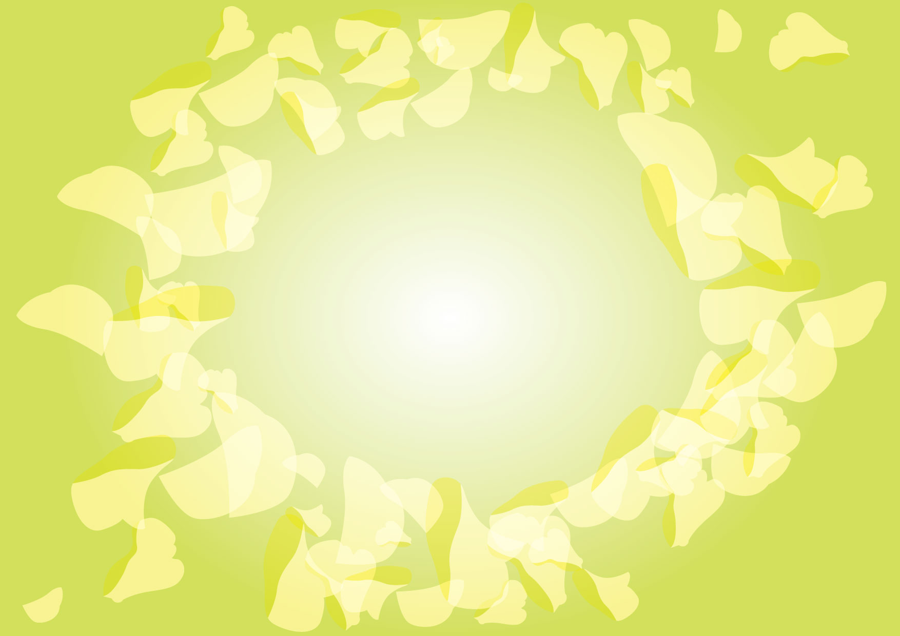可愛いイラスト無料|背景 花びら グリーン − free illustration Background petal green