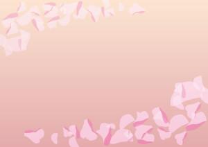 花吹雪 ピンク 背景 イラスト 無料
