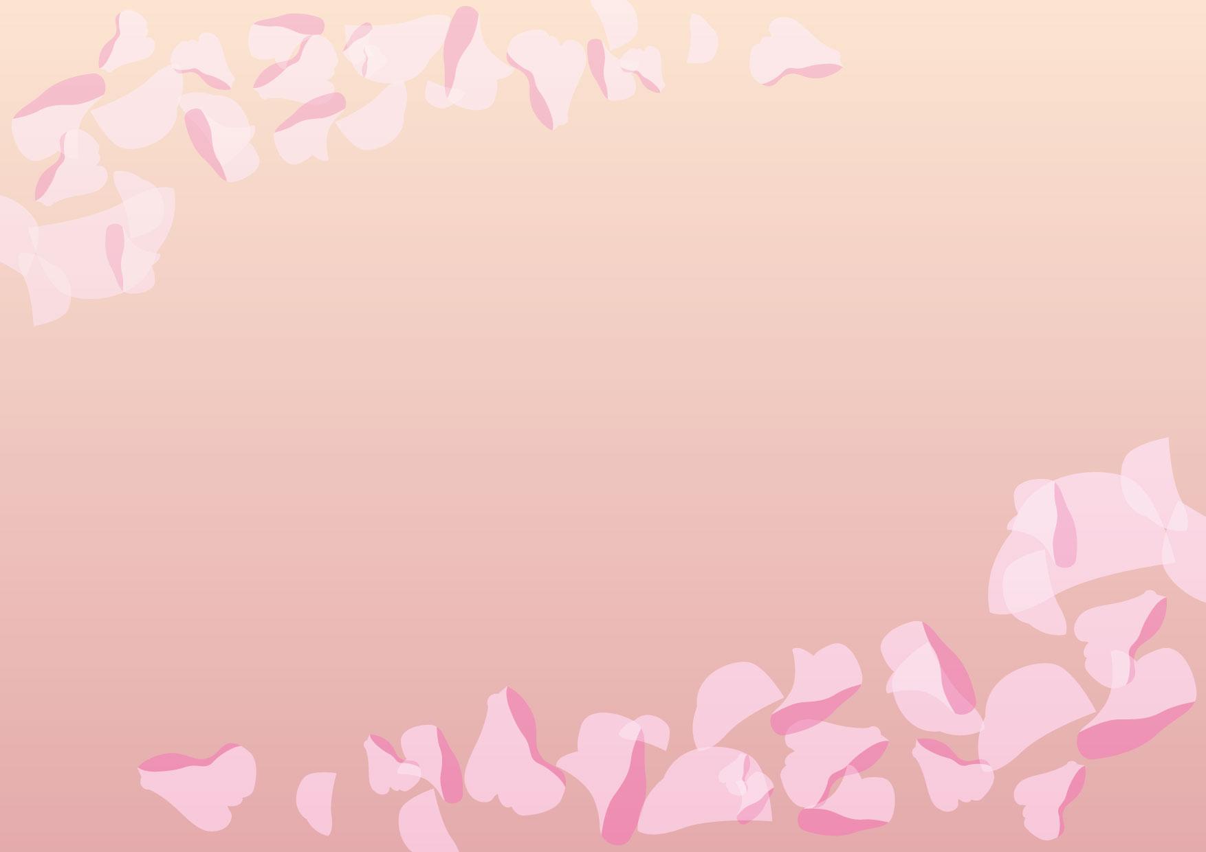 可愛いイラスト無料|背景 花びら ピンク − free illustration Background petals pink
