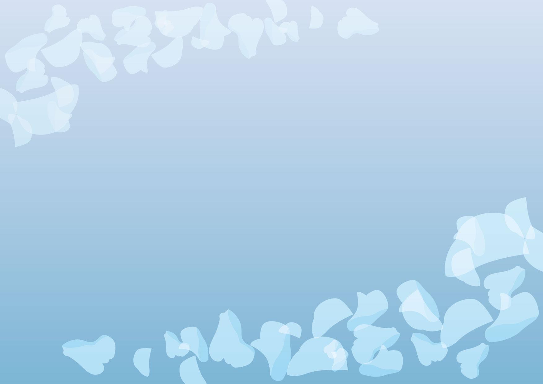 可愛いイラスト無料|背景 花びら ブルー − free illustration Background petal blue