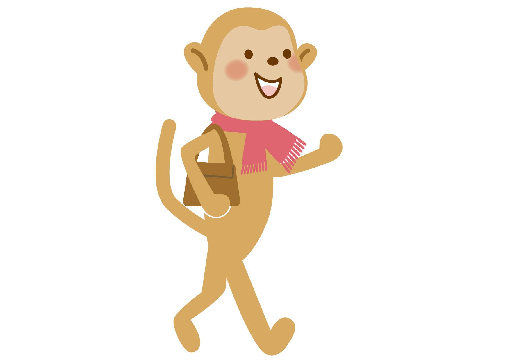 猿 お母さん イラスト 無料