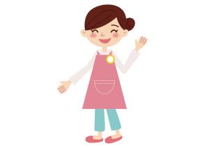 保育士 女性 笑顔 イラスト 無料