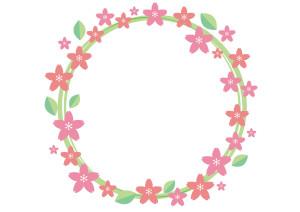 芝桜 フレーム 背景 ピンク イラスト 無料