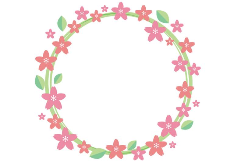 桜 フレーム 丸 背景 イラスト 無料 無料イラストのイラスト