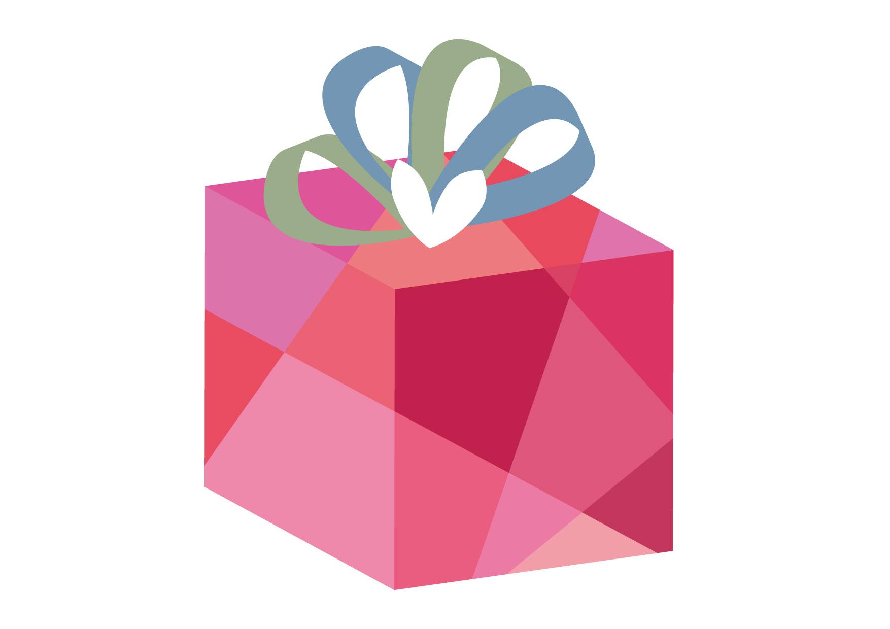 可愛いイラスト無料|バレンタイン ハート プレゼント ピンク − free illustration Valentine Heart Present Pink