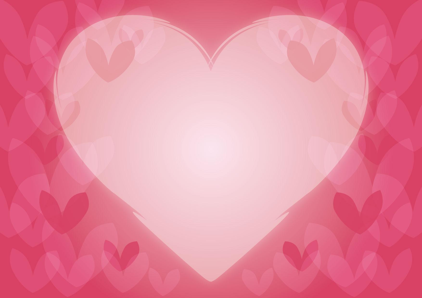 可愛いイラスト無料|バレンタイン ハート 背景 ピンク − free illustration Valentine heart background pink