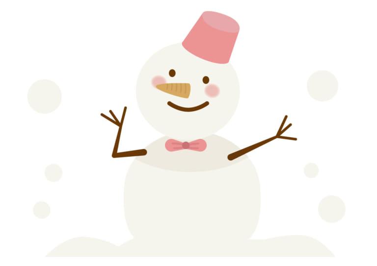 雪だるま リボン イラスト 無料