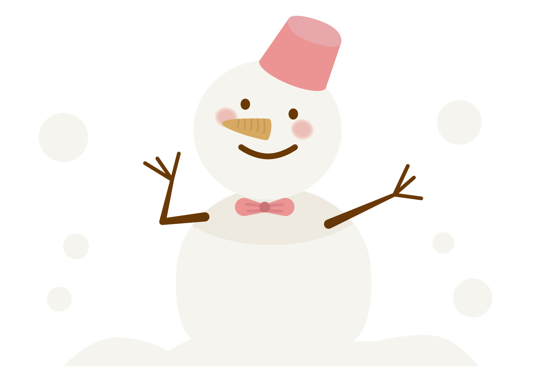 可愛いイラスト|雪だるま − free illustration snowman