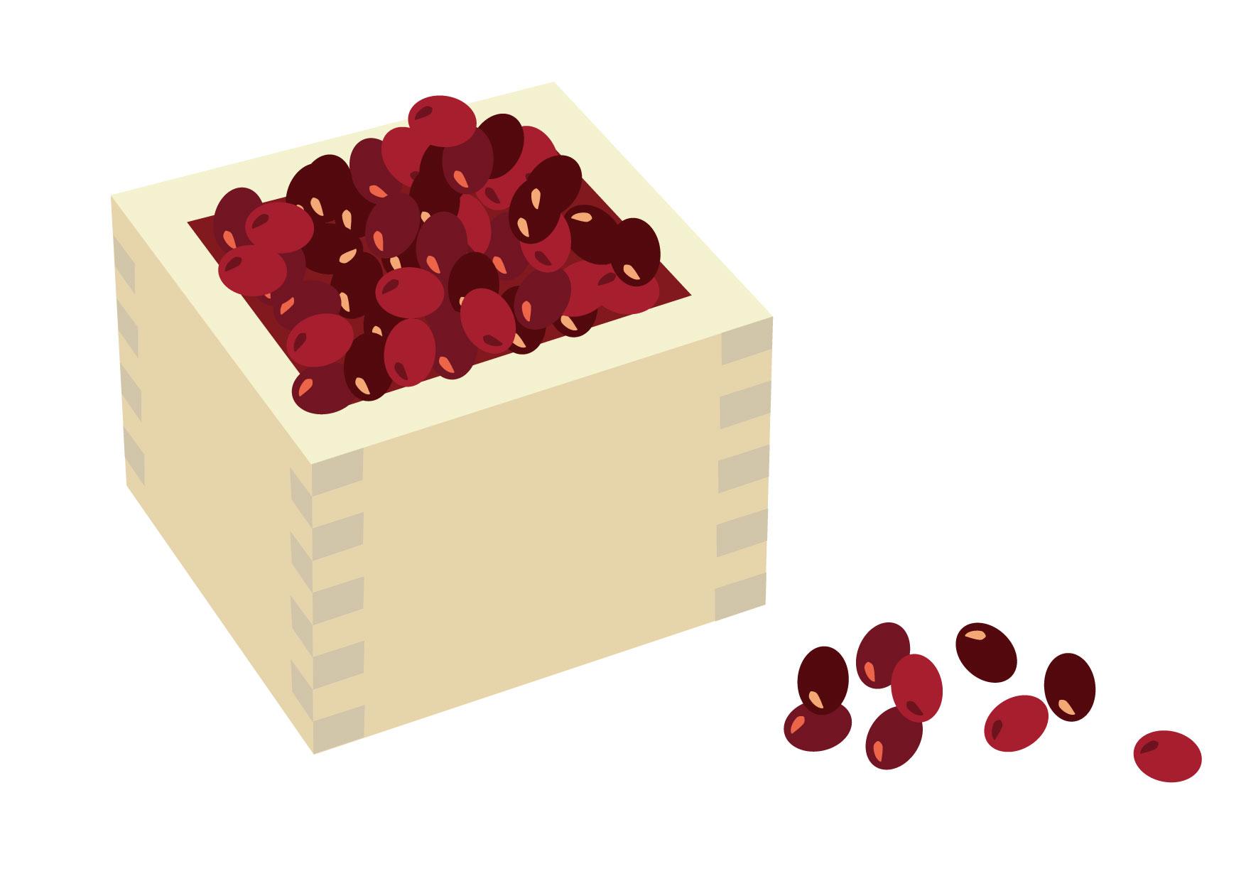 可愛いイラスト無料|あずき(小豆) − free illustration Red beans