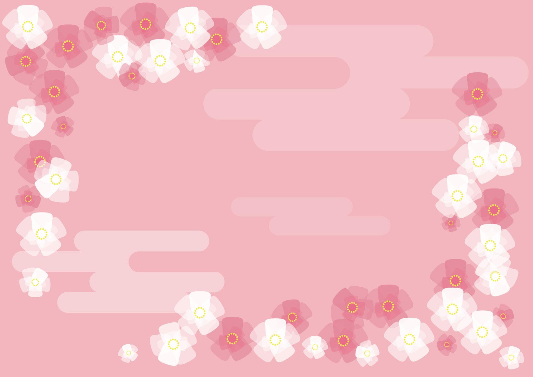 ひな祭り 桃の花 背景 イラスト 無料