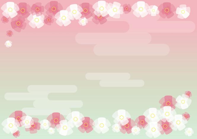 背景 桃の花 イラスト 無料