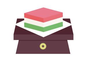 ひな祭り 菱餅 イラスト 無料