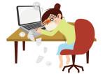 仕事 パソコン 女性 風邪 マスク イラスト 無料