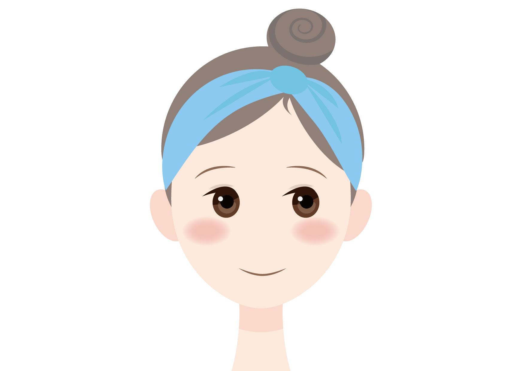 可愛いイラスト無料|女性 顔 健康 − free illustration Woman face health